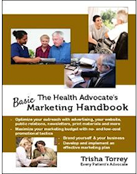 book cover - The Health Advocate's Basic Marketing Handbook